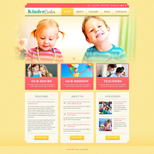 Kinder Center - WordPress Template based on Bootstrap