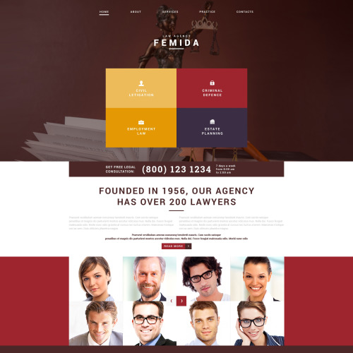 Femida Law Agency - Joomla! Template based on Bootstrap