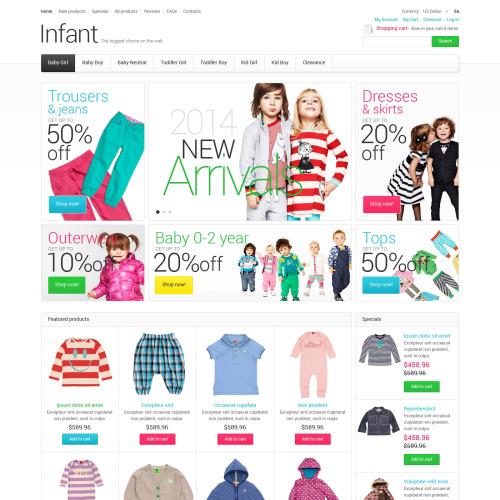 Infant - HTML5 ZenCart Template