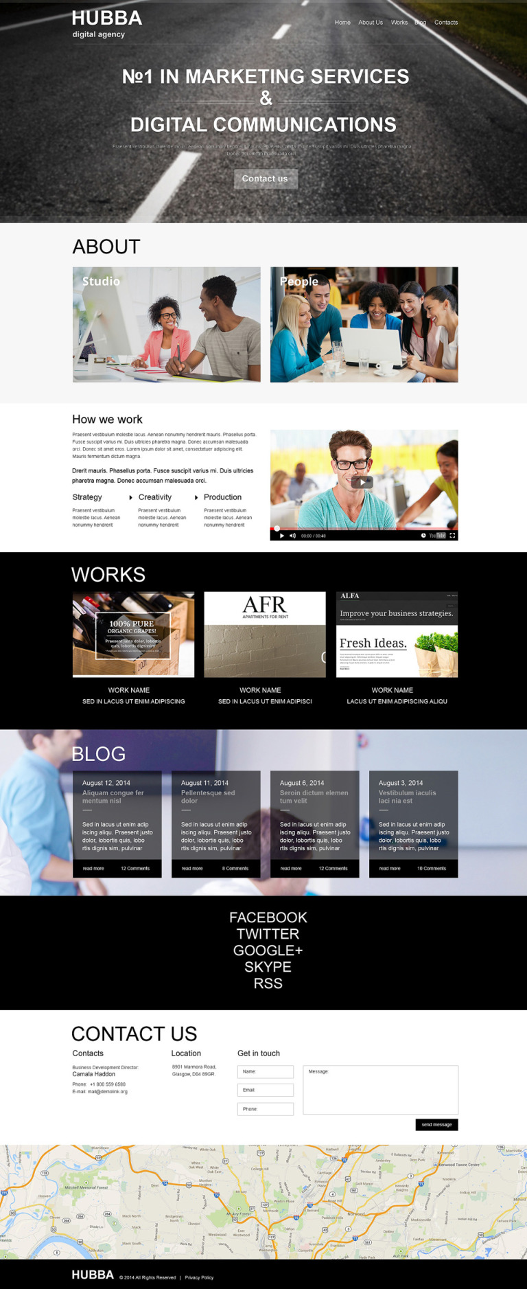 Marketing Agency Muse Template New Screenshots BIG