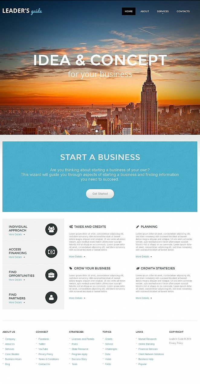 Merchant Services Moto CMS HTML Template New Screenshots BIG