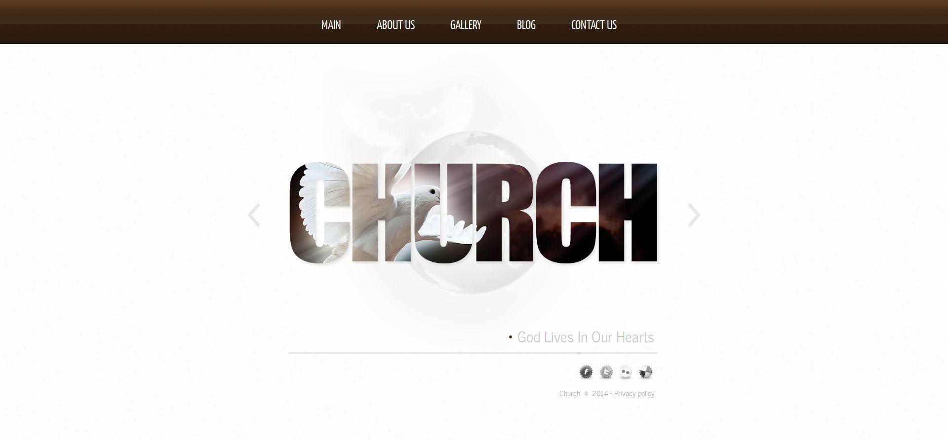 Modèle Moto CMS HTML Premium pour site d'église catholique #50822