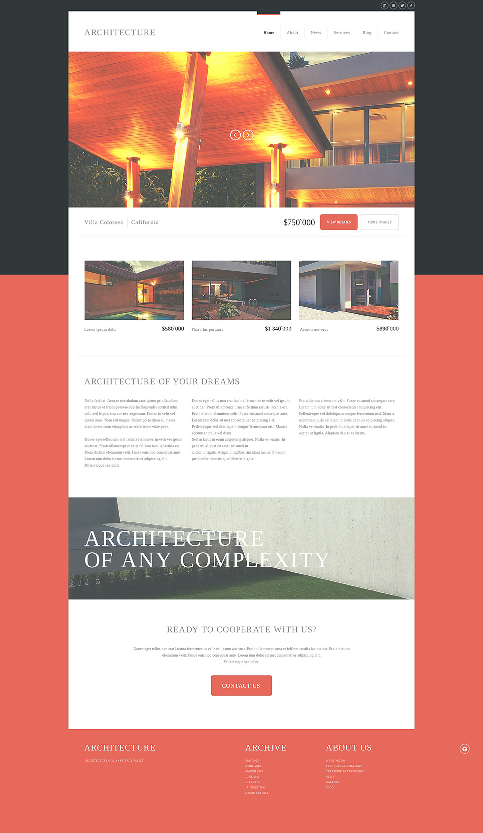 Modern Architecture Joomla Template New Screenshots BIG