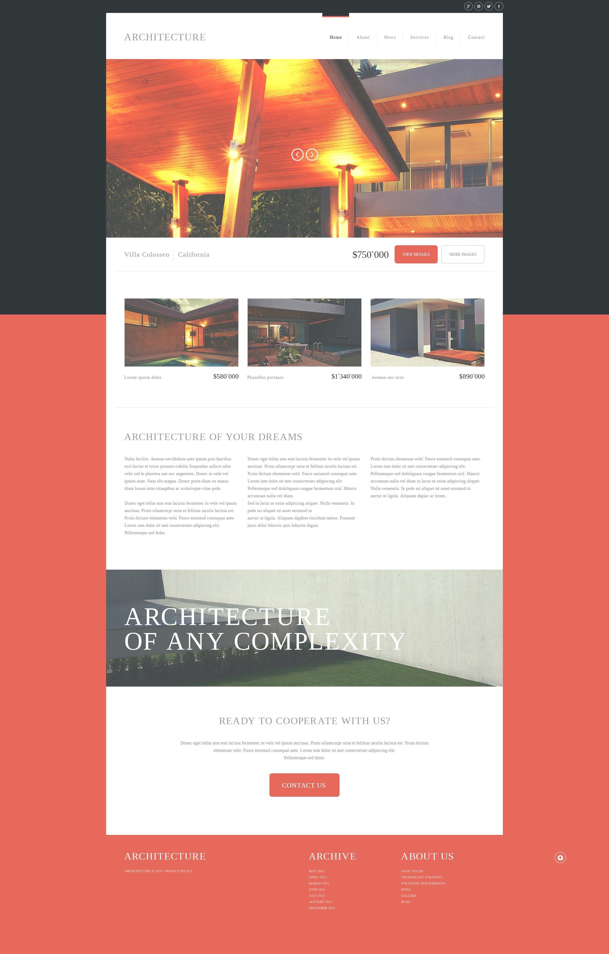 modern architecture joomla template 50882. Black Bedroom Furniture Sets. Home Design Ideas