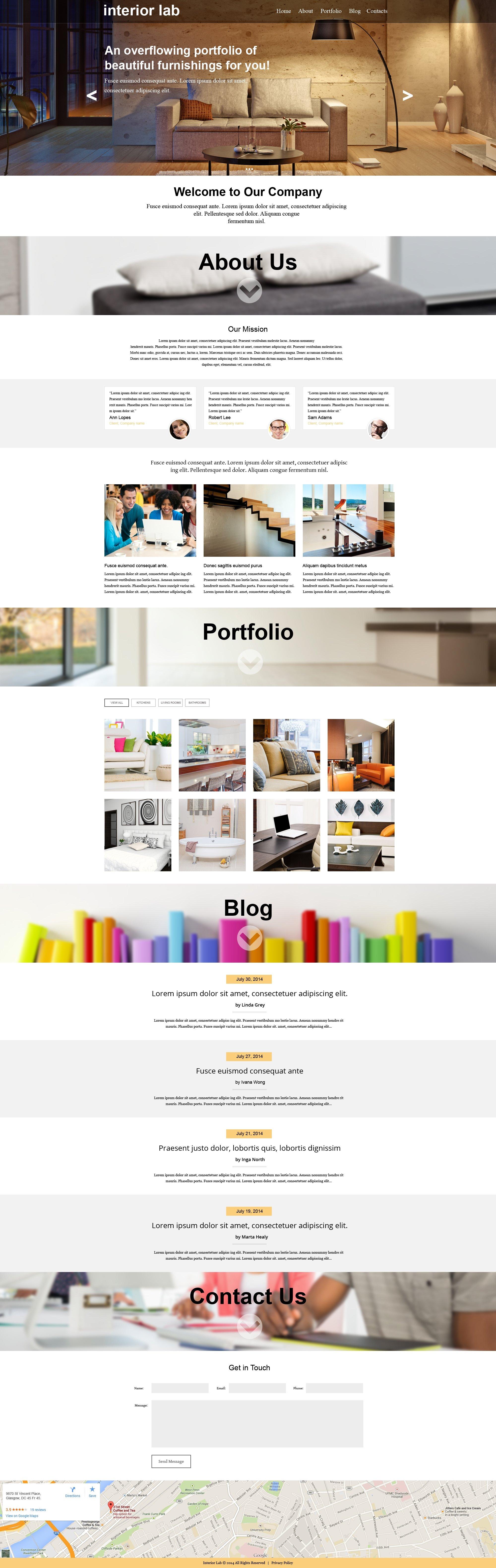 Muse шаблон №50837 на тему дизайн интерьеров