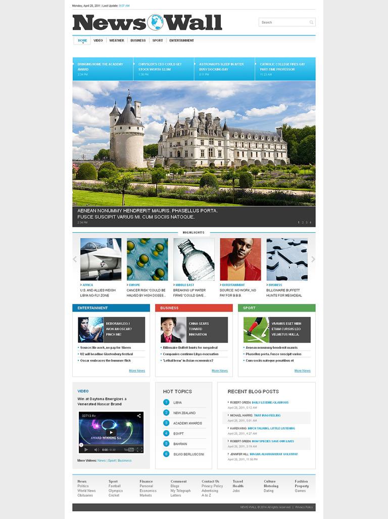 News Portal Responsive Website Template New Screenshots BIG