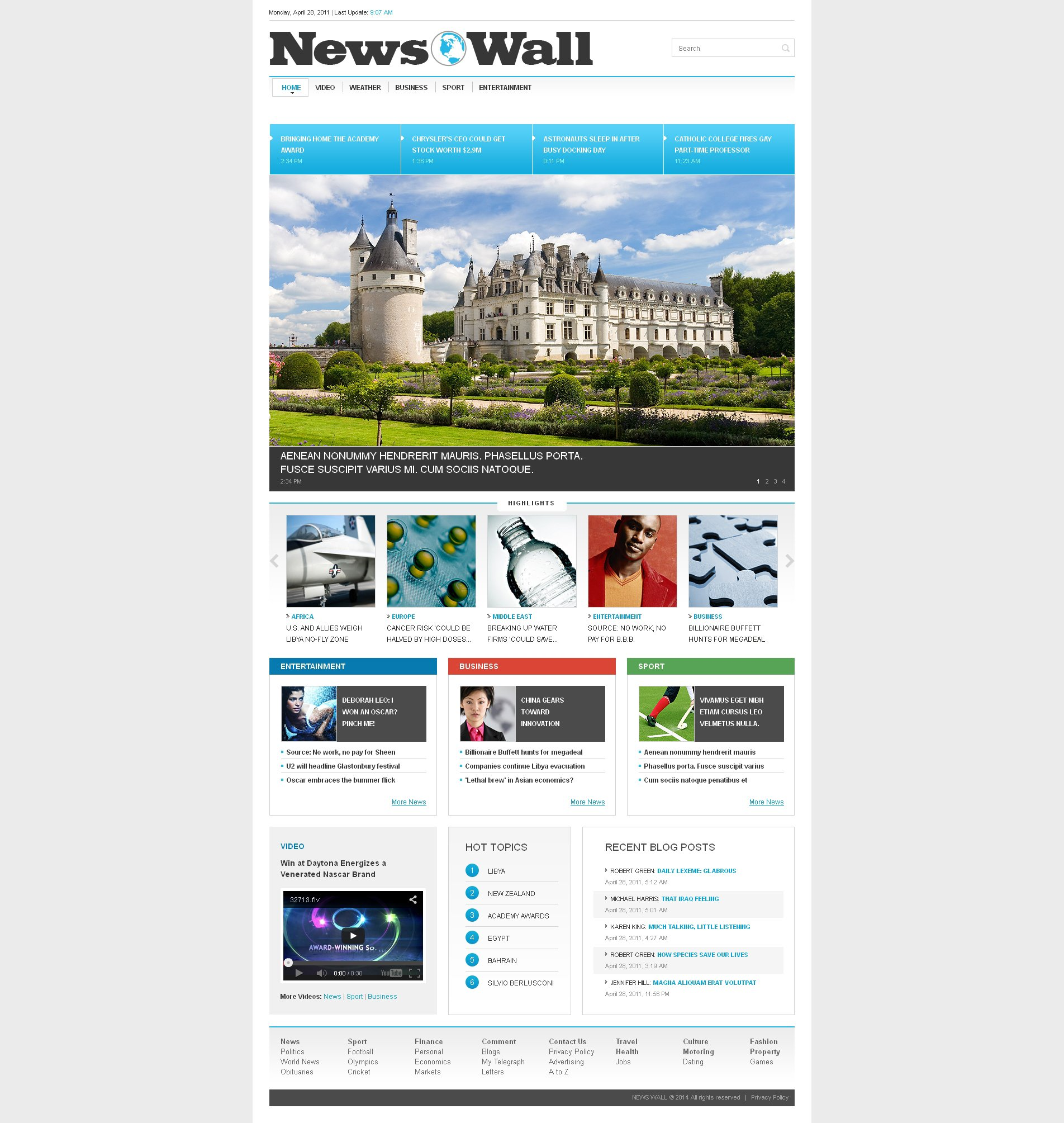 news portal website templates