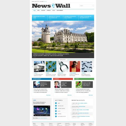 News Wall - Responsive Website Template