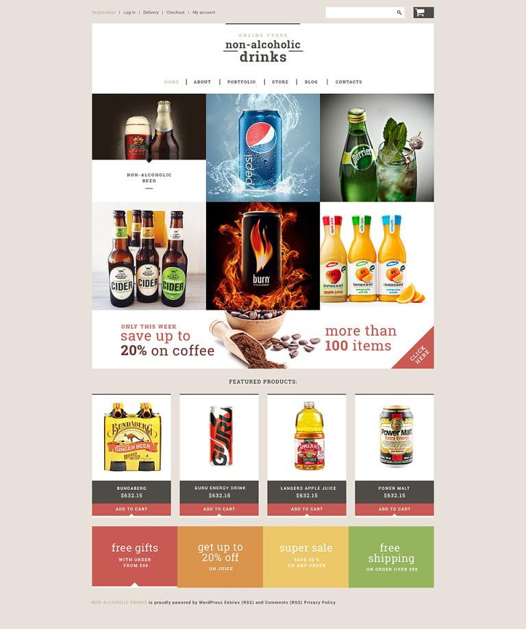 NonAlcoholic Drinks Store WooCommerce Theme New Screenshots BIG