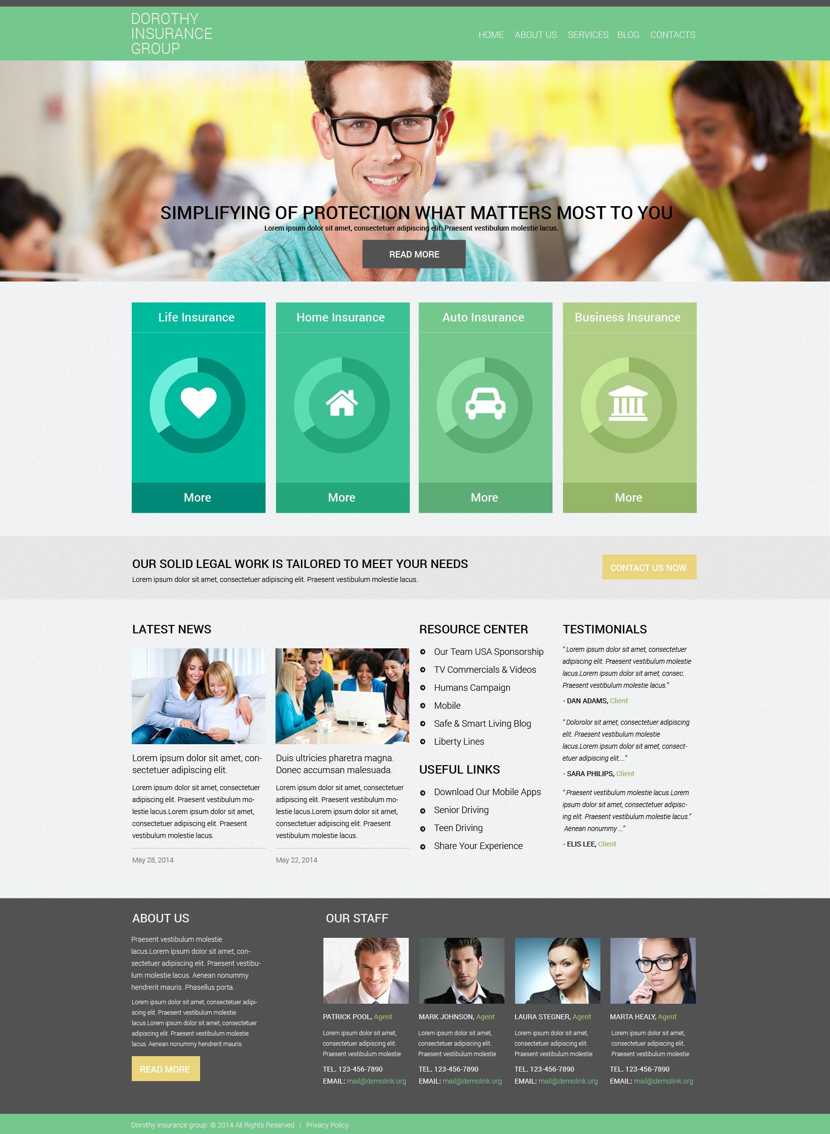 Online Insurance Services Drupal sablon 50877