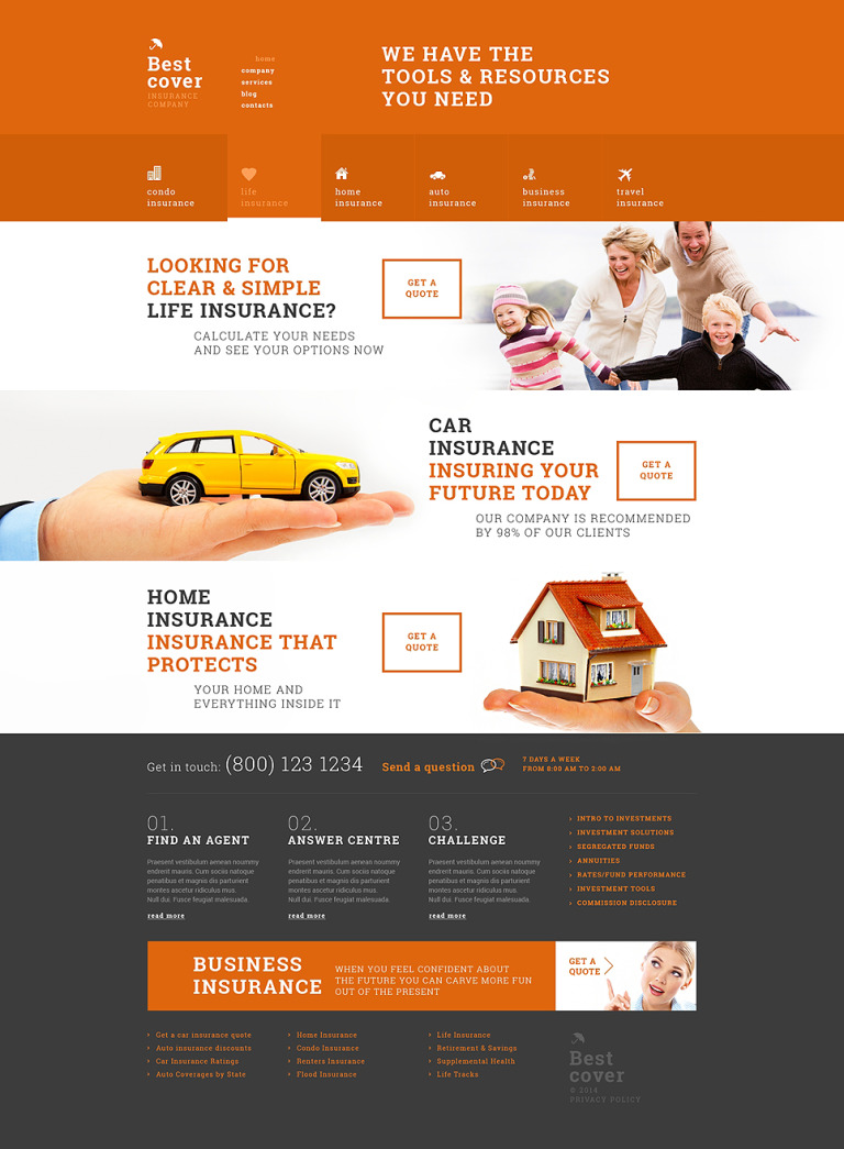 Online Insurance Services WordPress Theme New Screenshots BIG