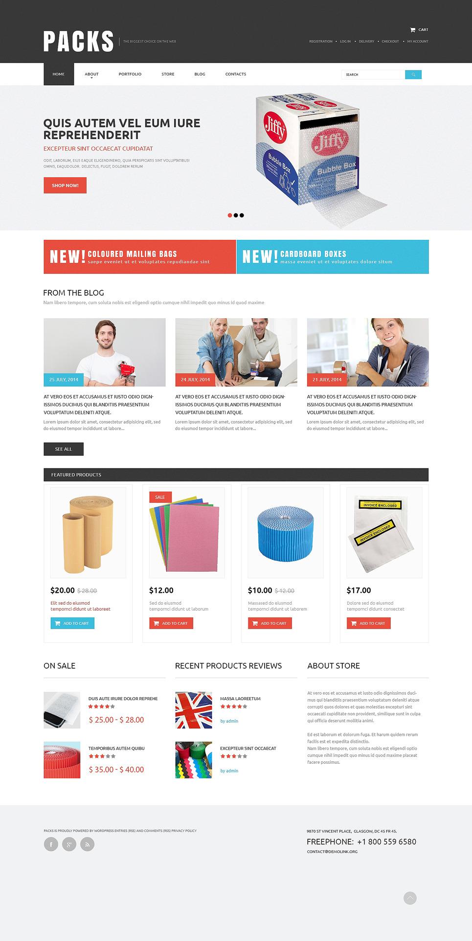 Packing Service Provider WooCommerce Theme New Screenshots BIG