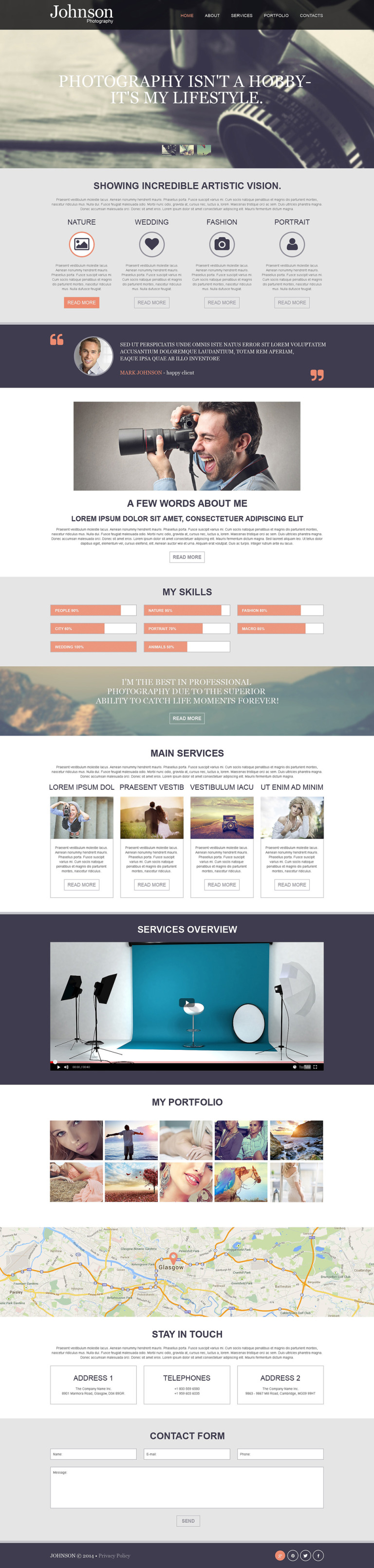 Photographer Portfolio Muse Template New Screenshots BIG