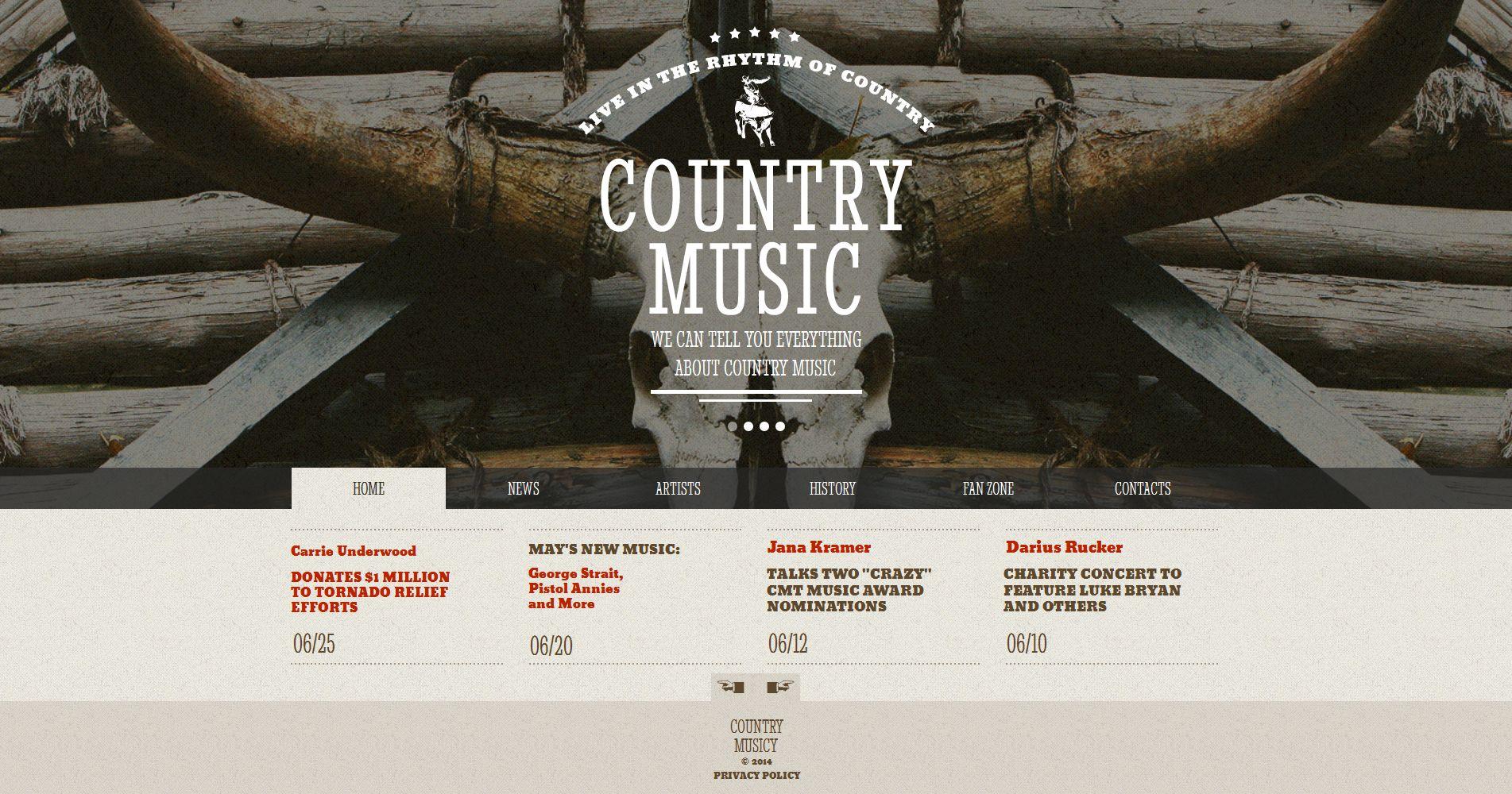 Plantilla Moto CMS HTML #50828 para Sitio de Grupos musicales