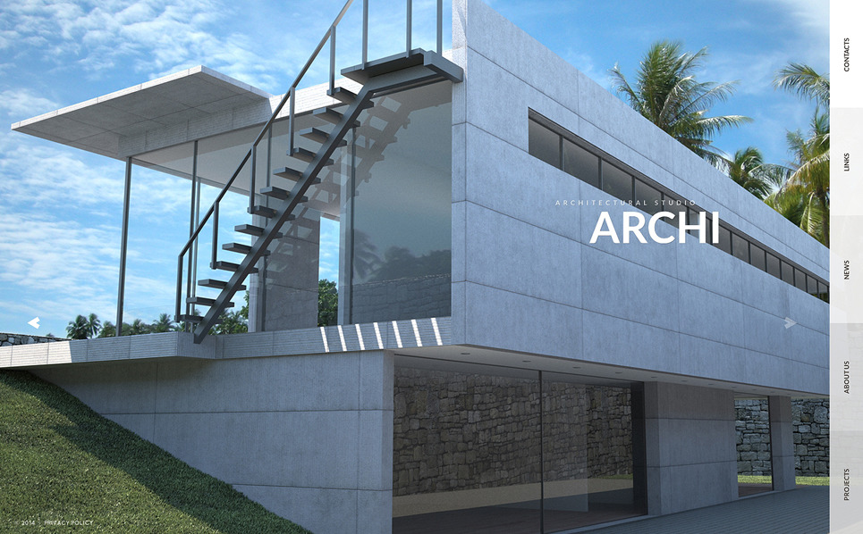 Plantilla web 50817 para sitio de arquitectura for Arquitectura sitio web