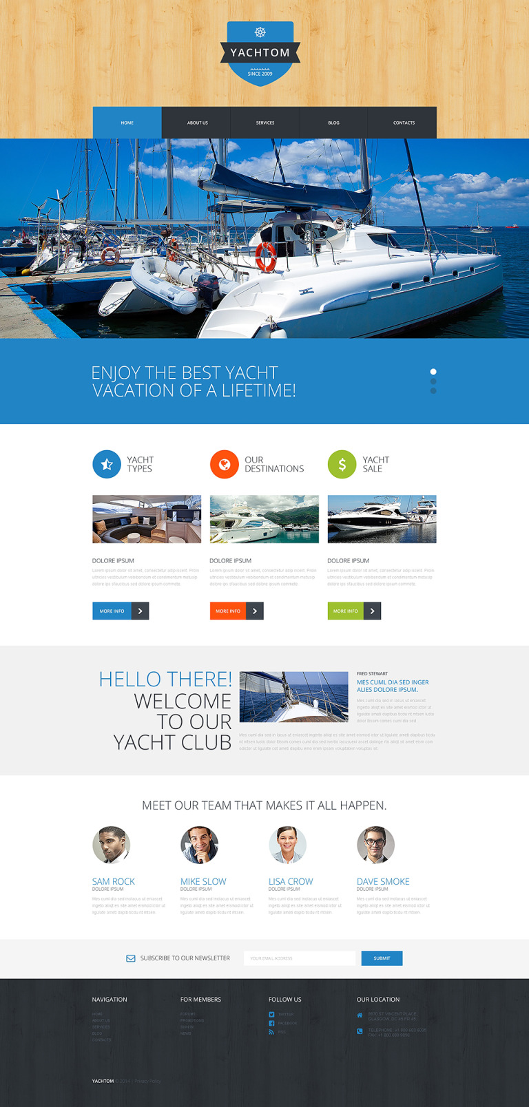 Pleasant Yachting Experience WordPress Theme New Screenshots BIG