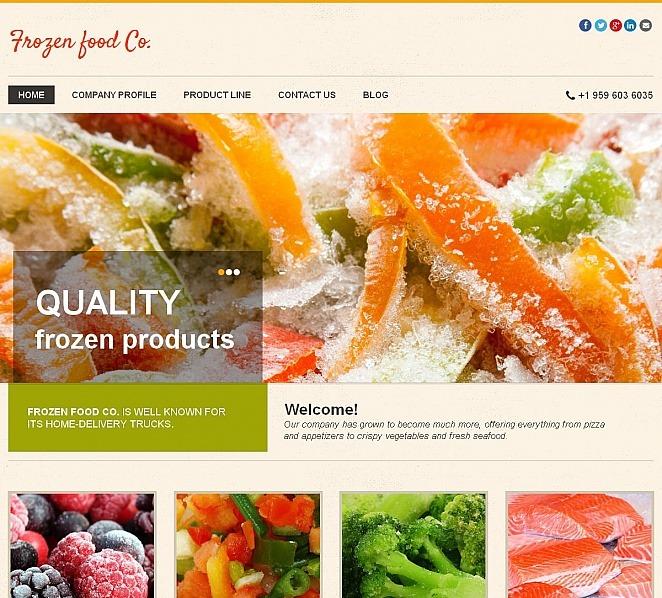 Premium Donmuş Yiyecekler  Moto Cms Html Şablon New Screenshots BIG