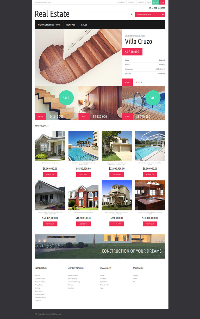 Reliable Real Estate Magento Theme New Screenshots BIG