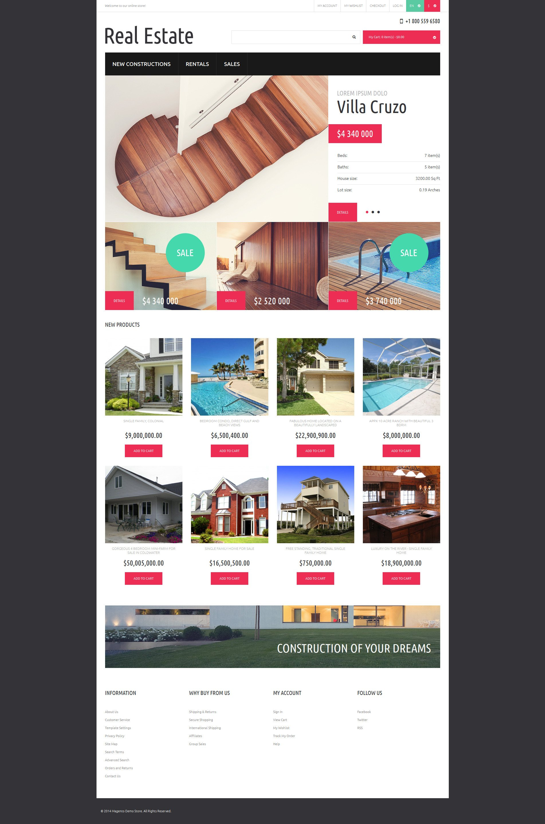 Reliable Real Estate Magento Theme - screenshot