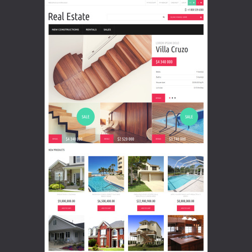 Real Estate - Responsive Magento Template