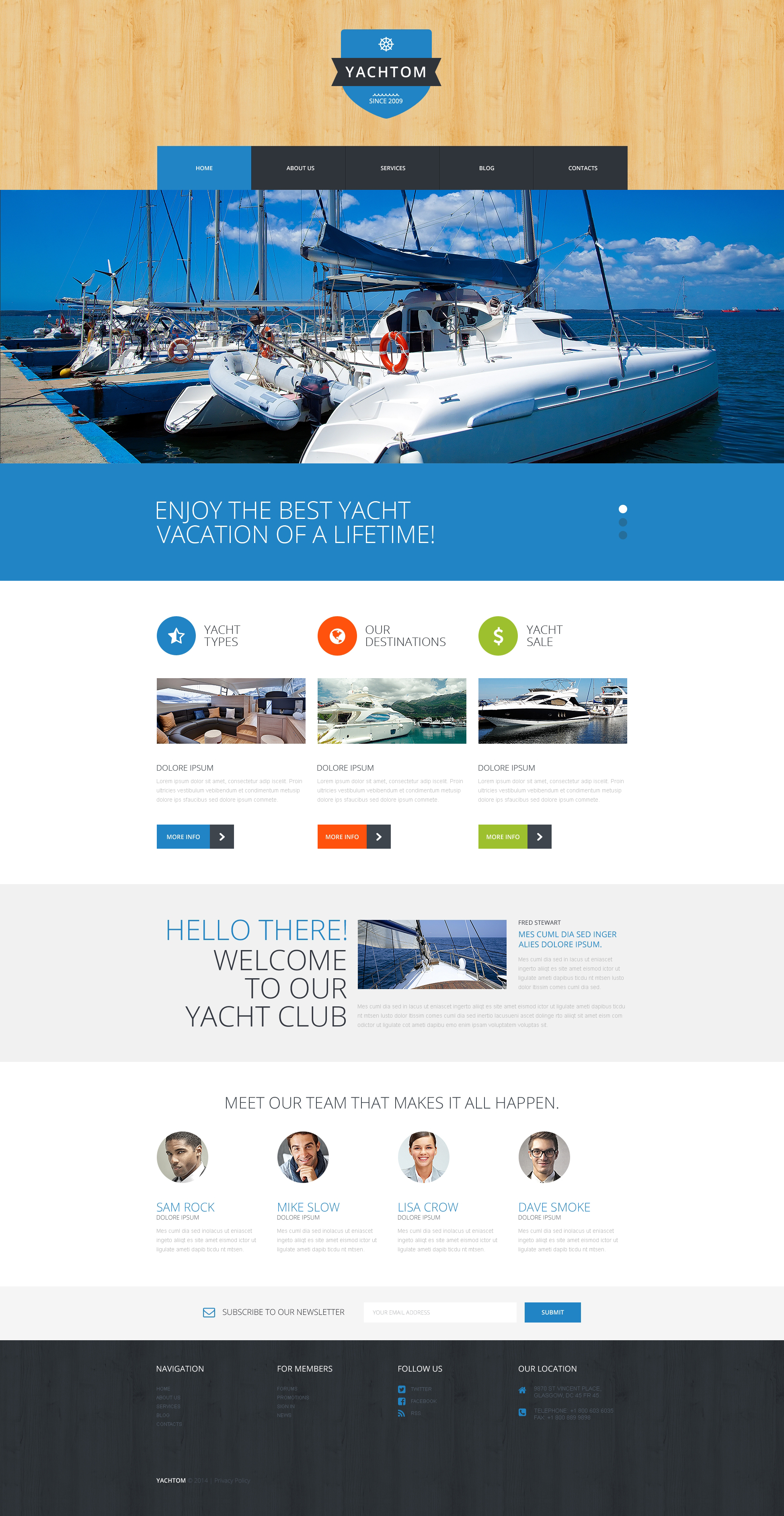 Responsivt Pleasant Yachting Experience WordPress-tema #50885 - skärmbild