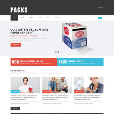 Responsywny motyw WooCommerce #50874 na temat: pakowanie