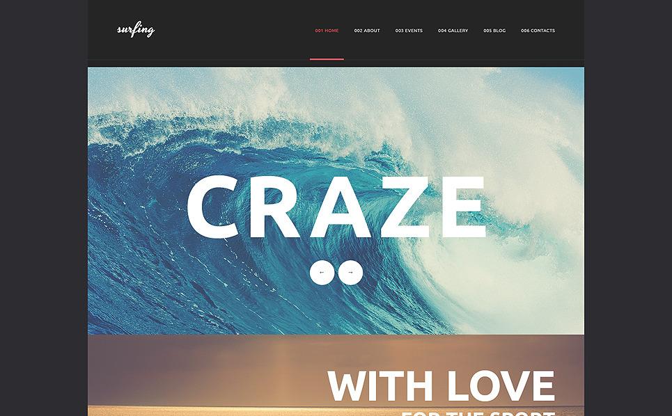 Responzivní WordPress motiv na téma Surfing New Screenshots BIG