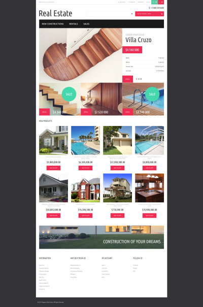 Real Estate Agency Responsive Magento Sablon