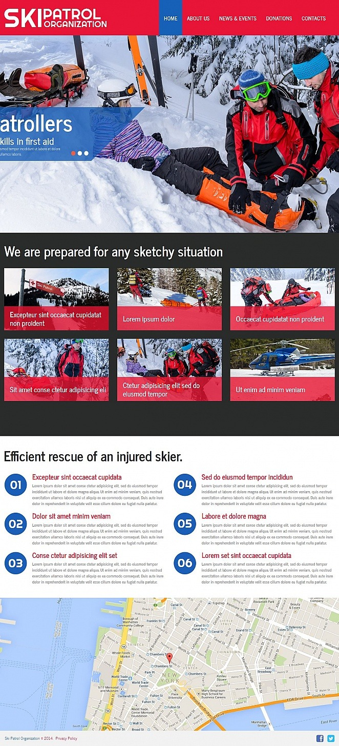 Skiing Moto CMS HTML Template New Screenshots BIG
