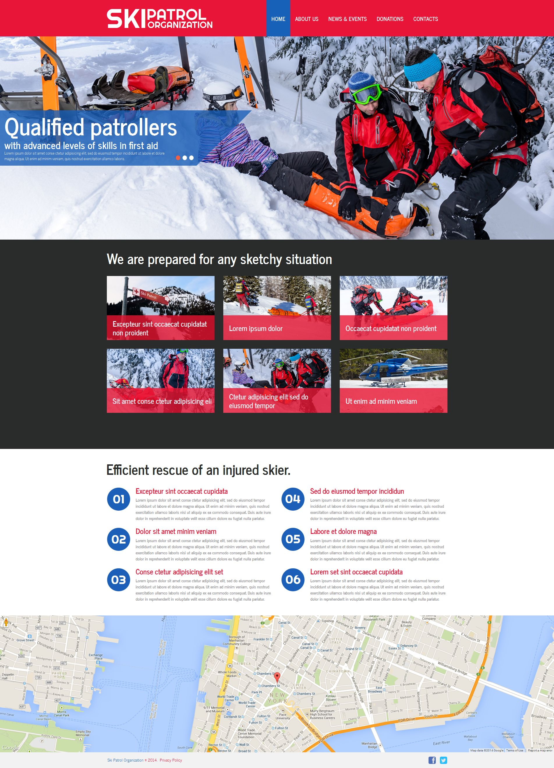 Skiing Moto CMS HTML Template - screenshot