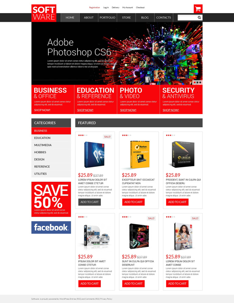 Software Store WooCommerce Theme New Screenshots BIG