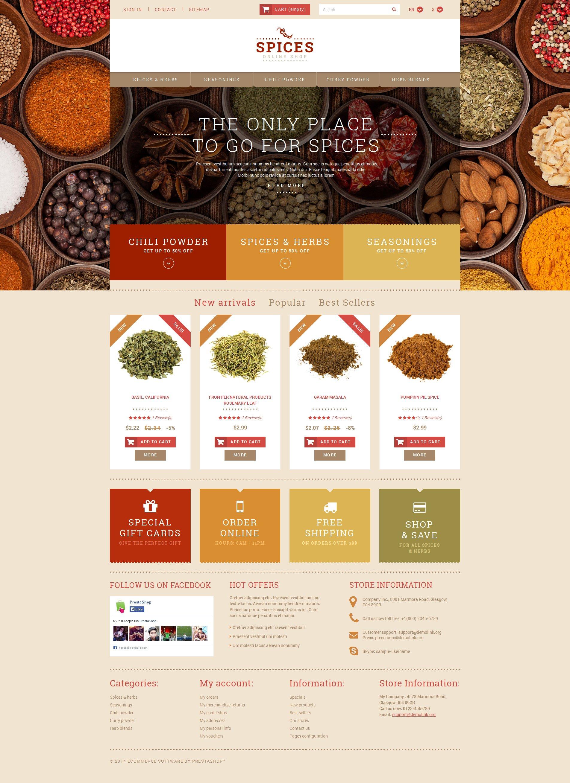 Spice Shop PrestaShop Theme