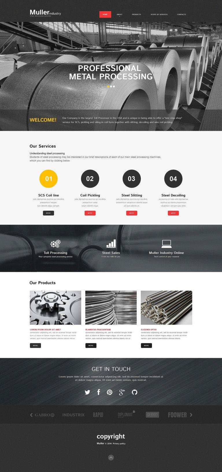 Steelworks Responsive Website Template New Screenshots BIG