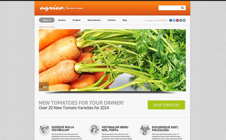 Tema de WordPress #50863 para Sitio de Agricultura