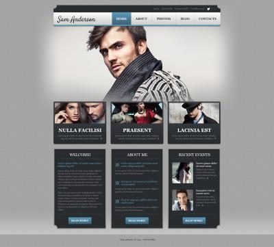 Responsive Tema De WordPress #50881 para Sitio de  para Portafolios de fotógrafos