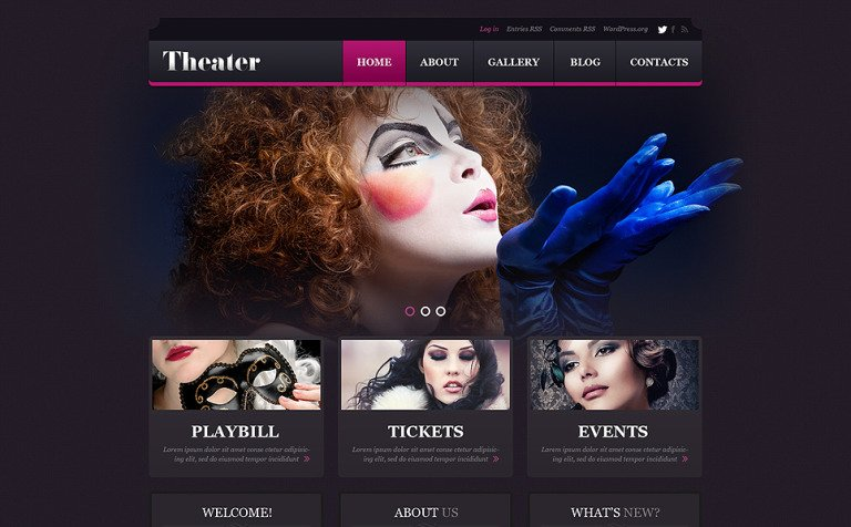 Tema de WordPress #50879 para Sitio de Teatro