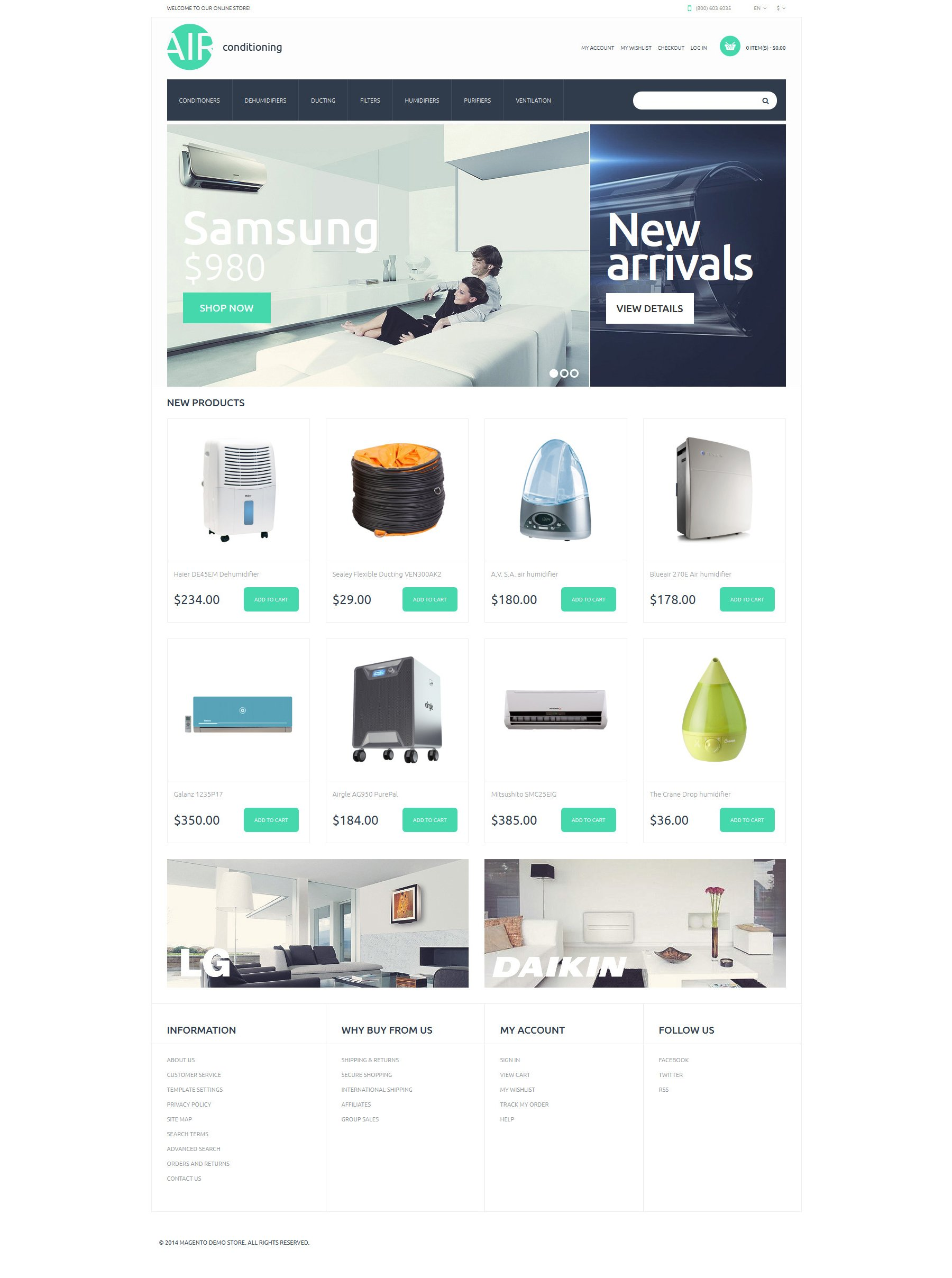 """Tema Magento Responsive #50898 """"AC Parts and Accessories"""""""