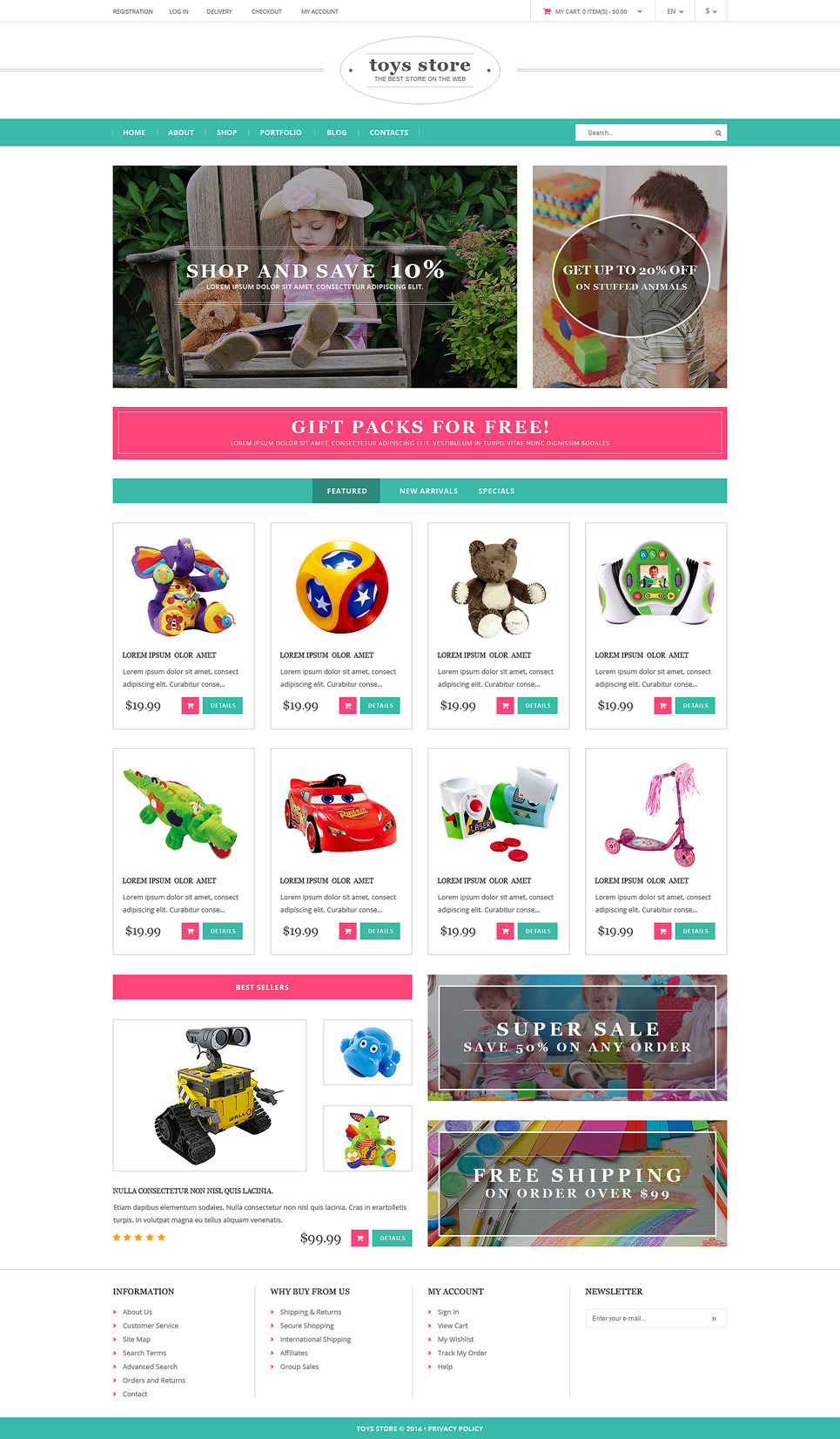 Toy Store PSD Template New Screenshots BIG