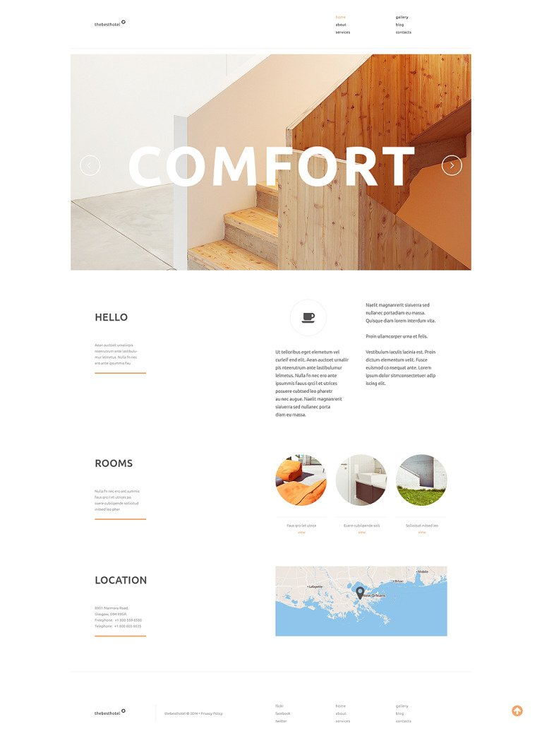 Travelers Accommodation WordPress Theme New Screenshots BIG