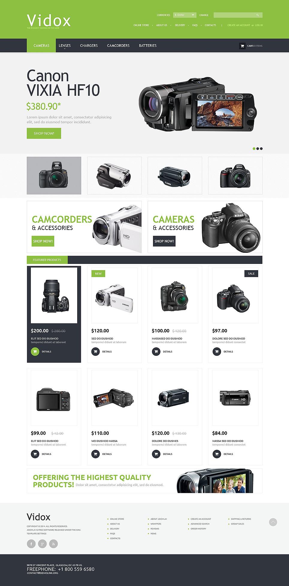 Video Store PSD Template New Screenshots BIG