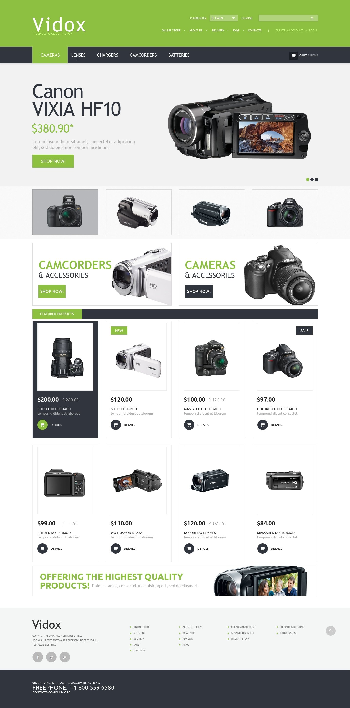 Video Store PSD Template