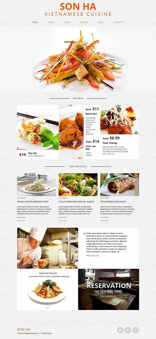 Vietnamese Restaurant Moto CMS HTML Template New Screenshots BIG