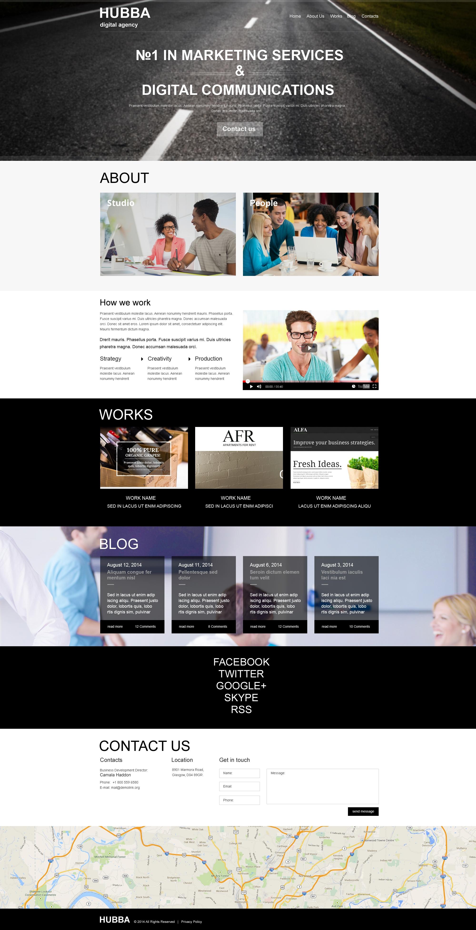 网络营销公司Muse 模板 #50838