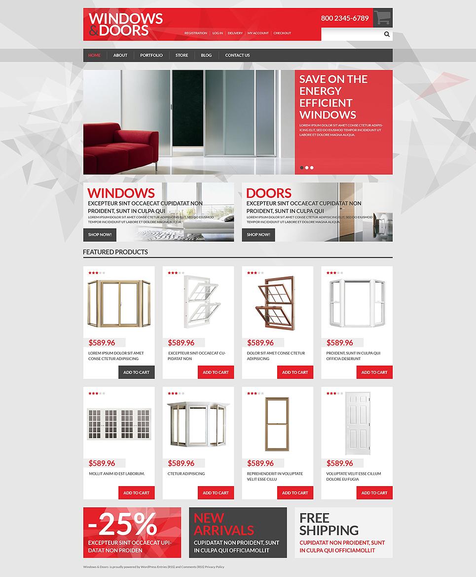 sc 1 st  Template Monster & Windows Doors Store WooCommerce Theme #50886