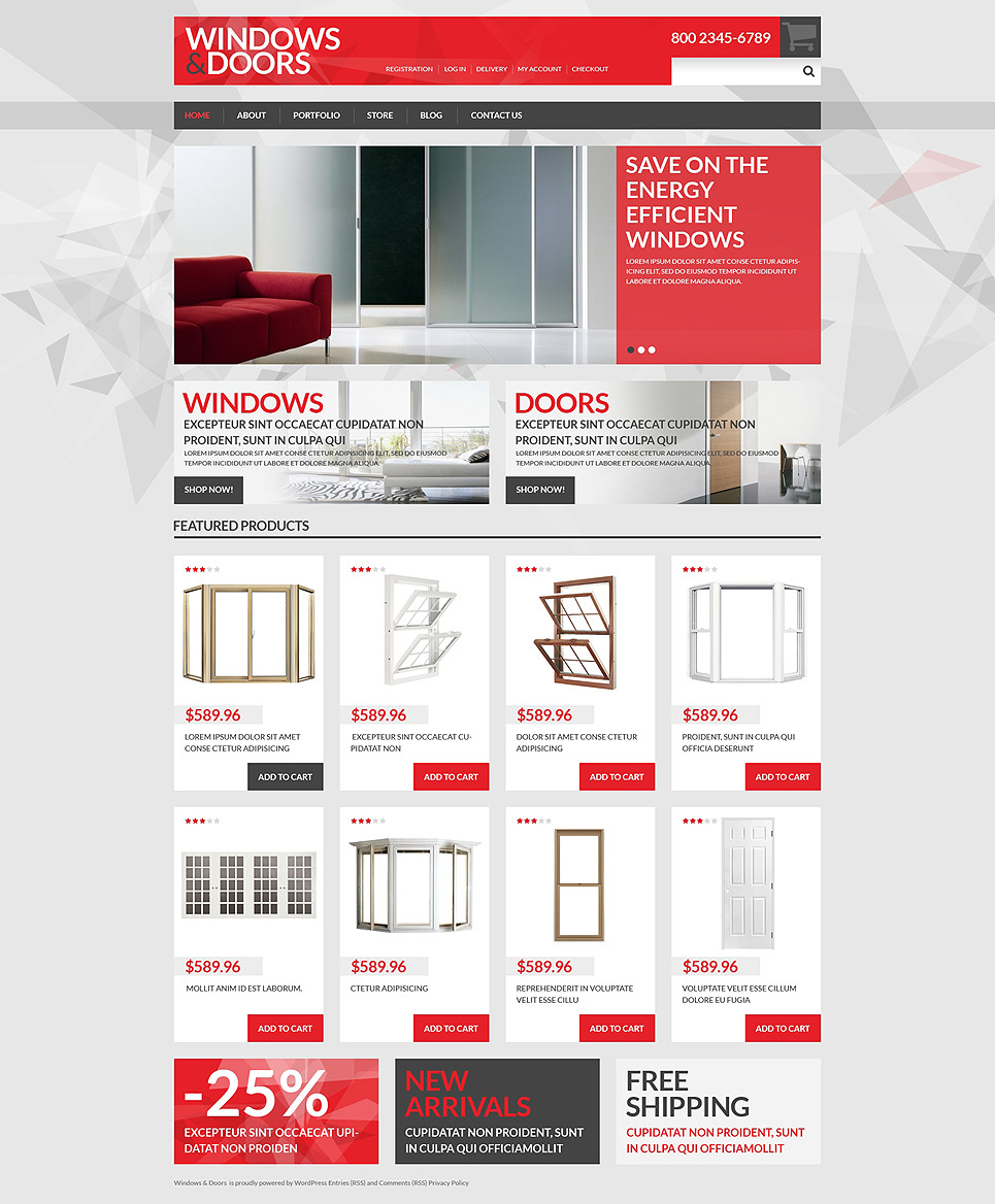 Windows Doors Store WooCommerce Theme New Screenshots BIG