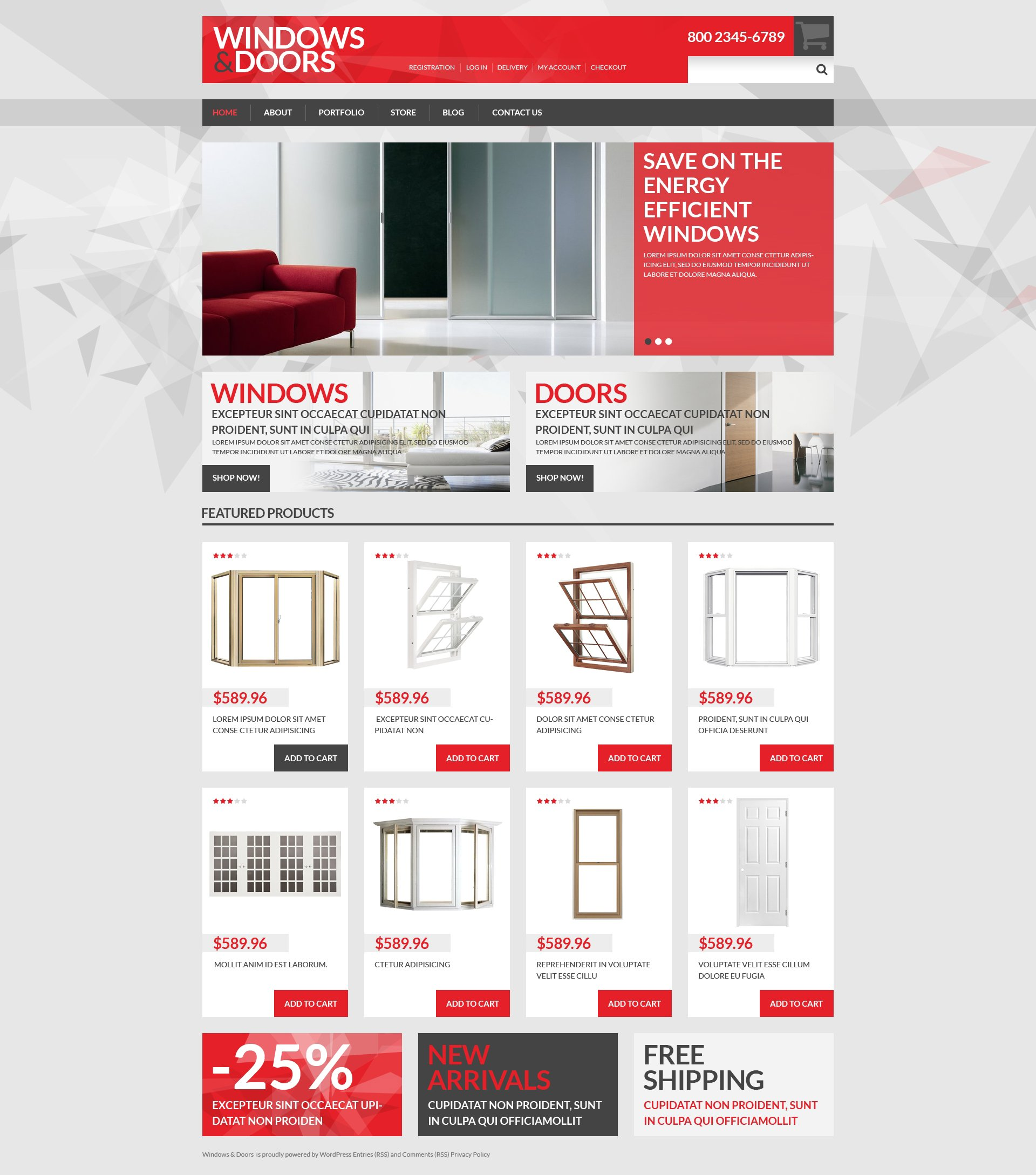 Windows  Doors Store WooCommerce Theme - screenshot