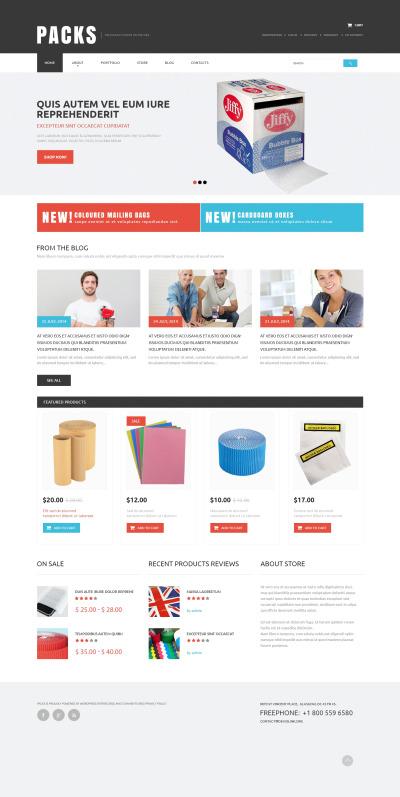 Адаптивный WooCommerce шаблон №50874 на тему упаковочные материалы