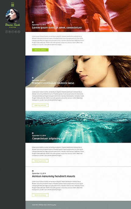 WordPress Theme/Template 50909 Main Page Screenshot