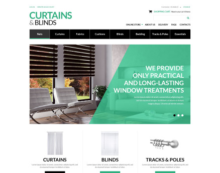Curtains  Blinds Salon VirtueMart Template