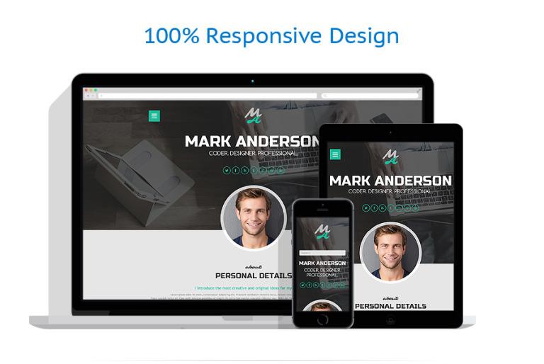 Tema de WordPress #50917 para Sitio de Portafolios de diseñadores